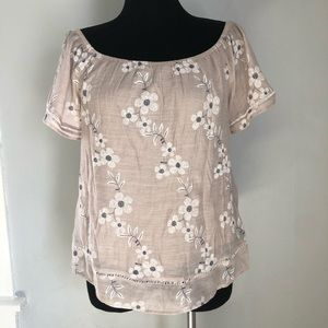 Staccato Boho Floral Off Shoulder Blouse sz L